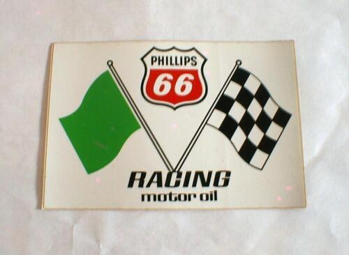 S 4 VINTAGE PHILLIPS 66 CROSSED FLAGS RACING MOTOR OIL STICKER