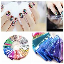 10Pcs Foils Finger DIY Nail Art Sticker Water Transfer Tips Beauty Decorative