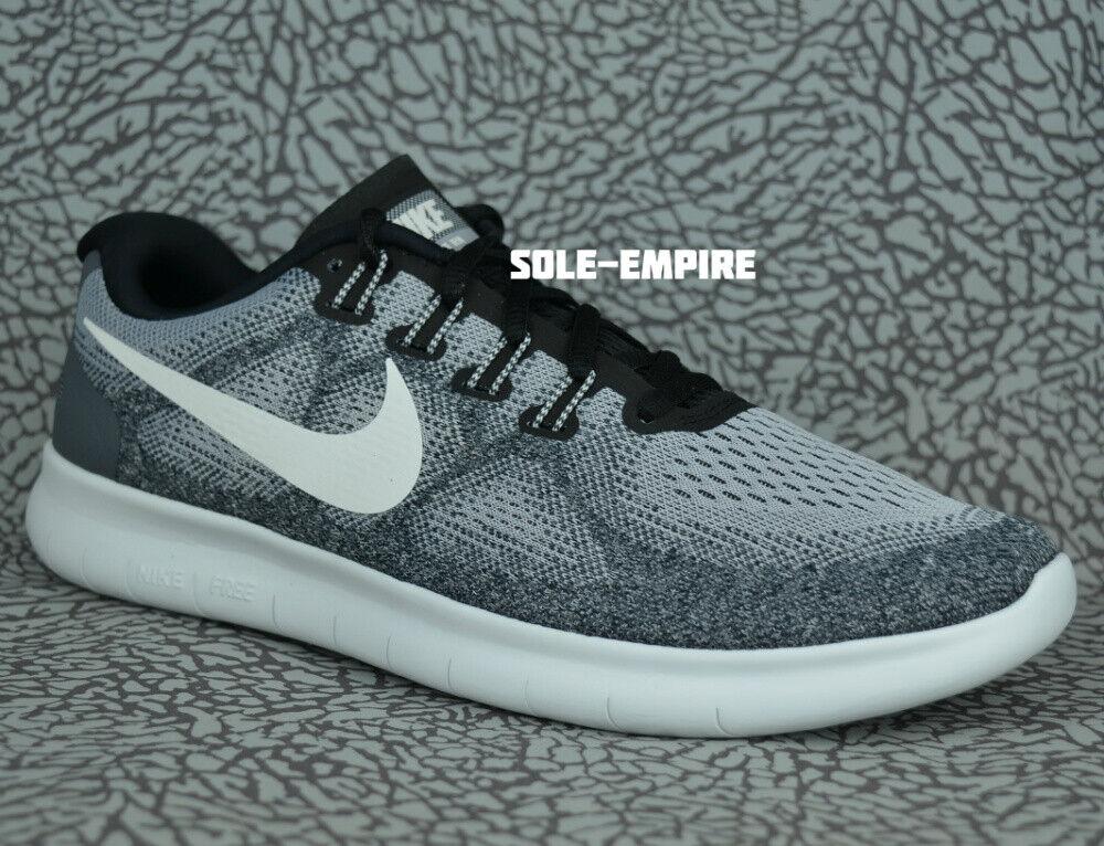 Nike Free RN 2017 880839-002 Wolf Grey Off White Black Run Running shoes SALE