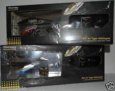 R/C Remote Control Air Tiger Helicopter. Auto balance, Full function controls
