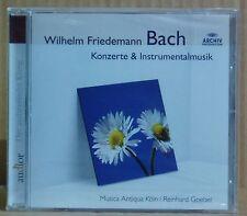 CD W.F.Bach Konzerte ...Musica Antiqua Köln Goebel Archiv 2010 neu & ovp