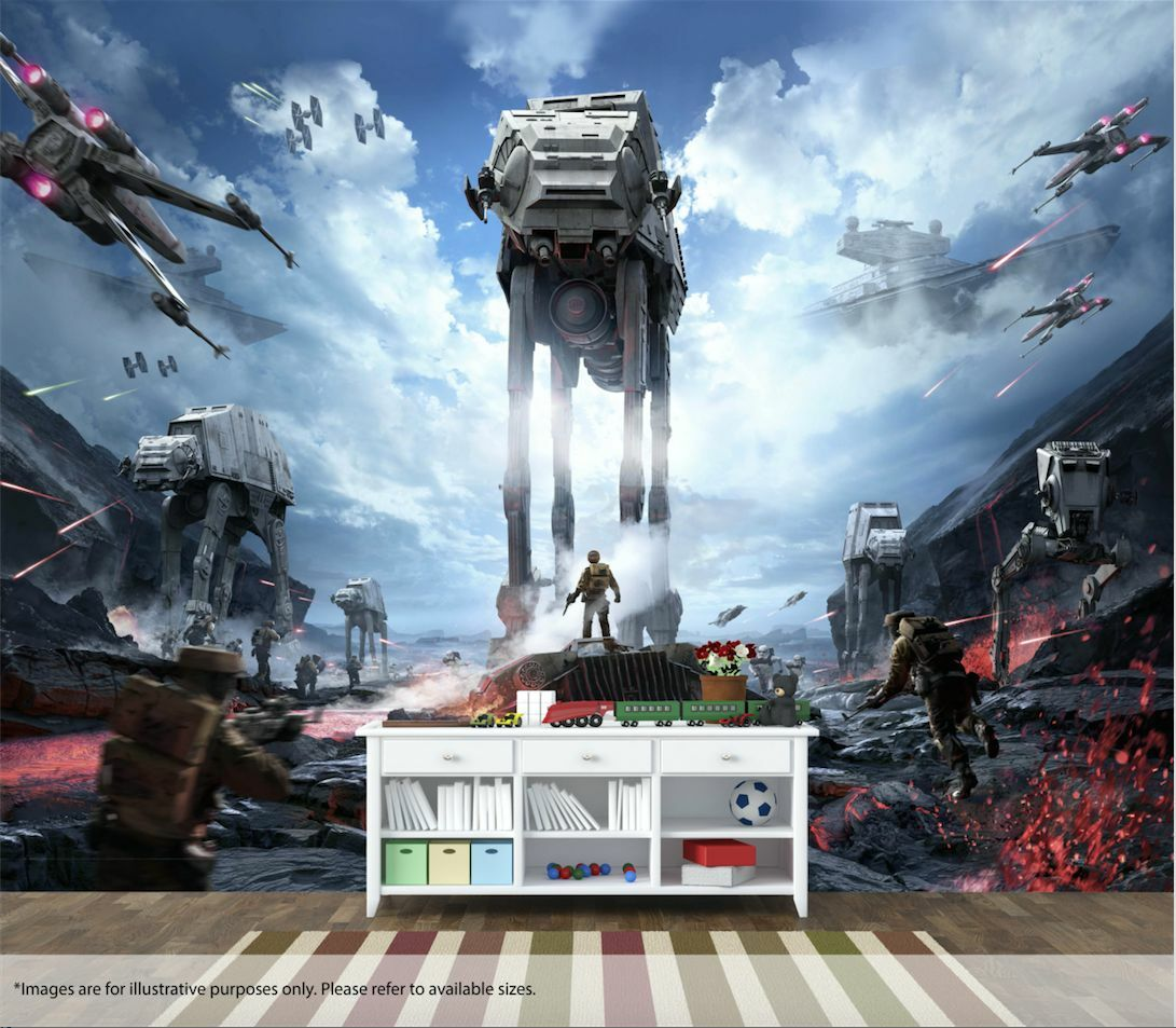 Star Wars Battlefront Wall Art Wall Mural Quality Pastable Wallpaper Decal