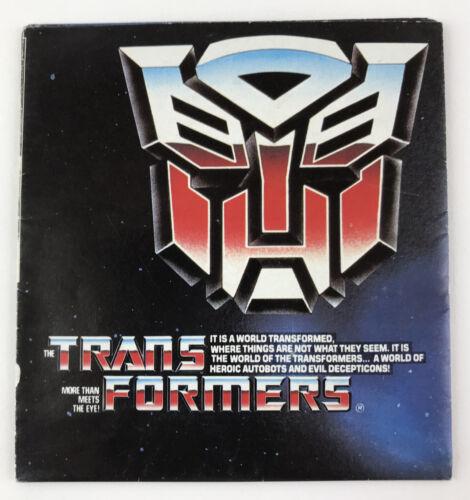 Transformers Hasbro 1985 G1 Vintage Grand Plié catalogue poster original