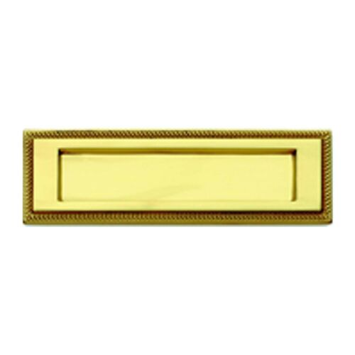 """Solid Polished Brass 11/"""" x 3-3//4/"""" Georgian Style Large Letter Plate Flap PB01B"""