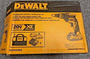 DeWalt-DCF620D2-20V-MAX-XR-Li-Ion-Brushless-Drywall-ScrewGun-Kit-NOB