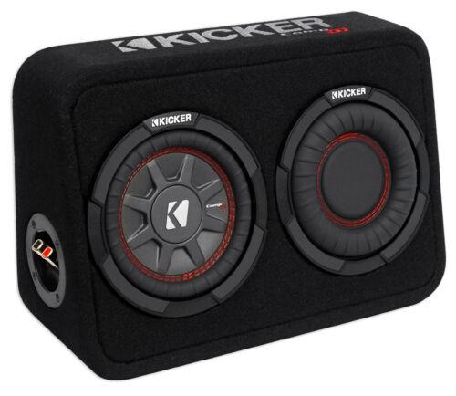 """Kicker 43TCWRT672 CompRT 6.75/"""" 300 Watt Shallow Subwoofer+Slim Sub Box Enclosure"""