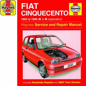 Alerte [3501] Fiat Cinquecento 0.9 1.1 Essence 93-98 (k Pour R Reg) Haynes Workshop Manual-afficher Le Titre D'origine Rendre Les Choses Commodes Pour Le Peuple