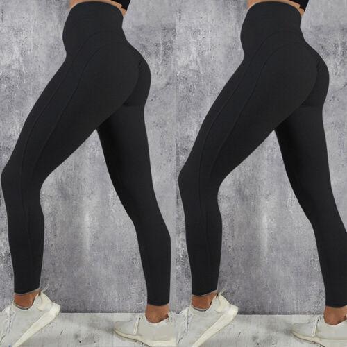 Womens Yoga Gym Anti-Cellulite Leggings Fitness Ladies Butt Lift Elastic Pants H
