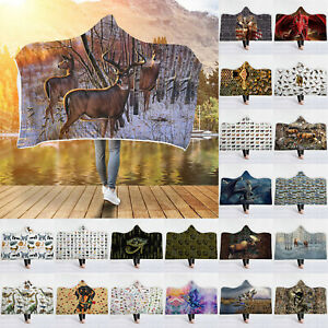 Adult-Winter-Soft-Hooded-Oversized-Blankets-Hoodie-Windproof-Animals-3D-Printing