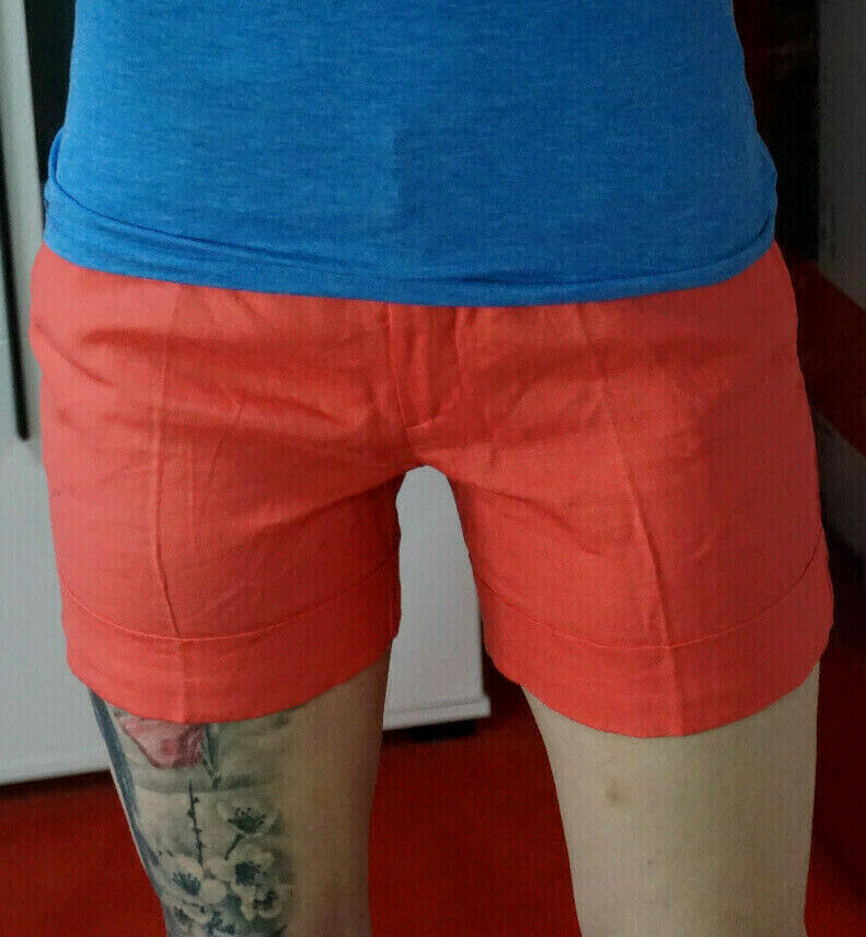 Trend elegant Business Highwaist dünne Sommer Bermuda Shorts XS S 34 36 W 27