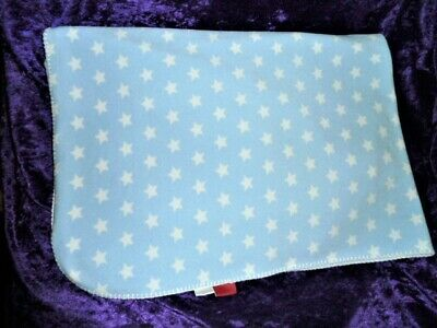 Amy Coe Limited Edition Blue and White Baby Blanket Stars Boy Swaddle