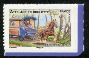 STAMP-TIMBRE-FRANCE-AUTOADHESIF-N-820-FAUNE-CHEVAUX-DE-TRAIT-DE-NOS-REGION