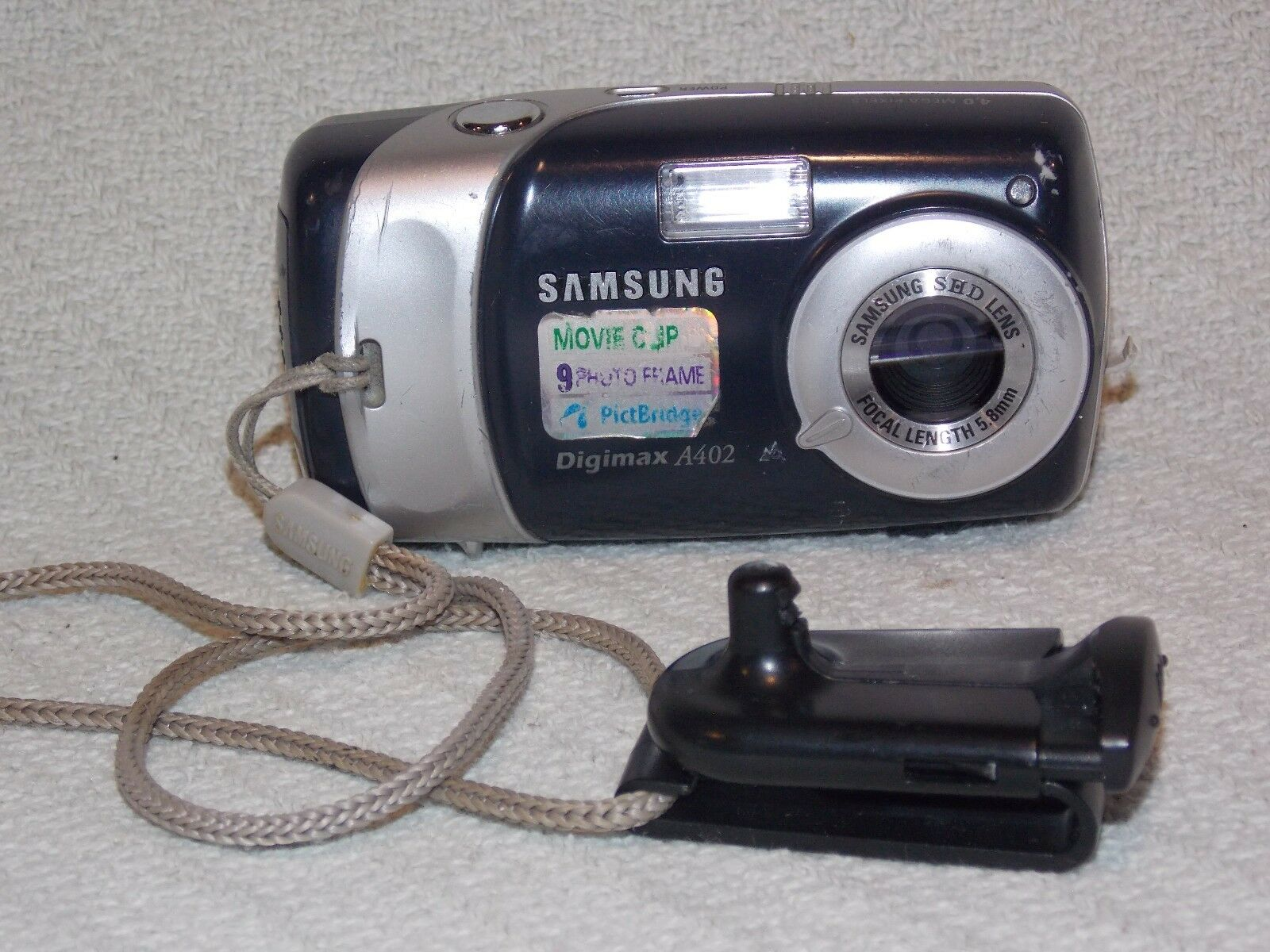samsung digimax a402 4 0 mp digital camera black ebay rh ebay com Samsung Digital Camera Samsung Digimax S600