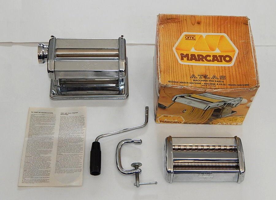 Marcato Atlas Model 150 Lusso OMC Pasta Noodle Maker EUC Made in  R9580