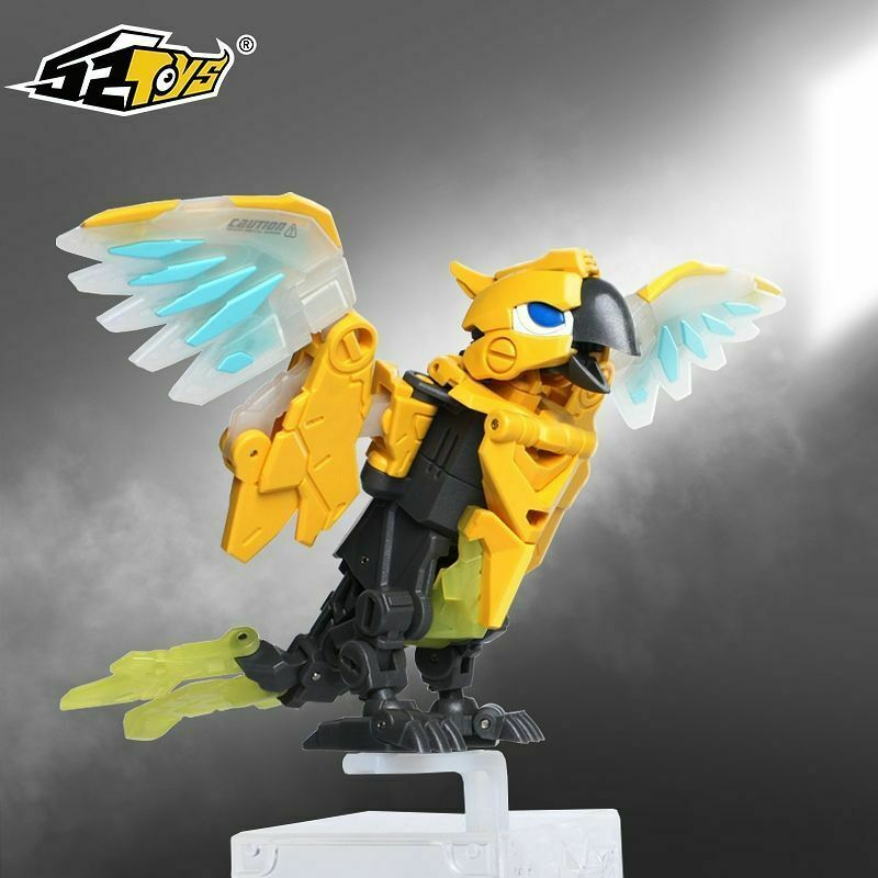 52TOYS BEASTBOX Robotic Parrot BB-10 ABS Animal Figure Model Movable Collection