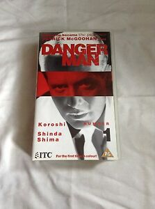 Danger-Man-Number-1-Vhs-PAL-Video-Koroshi-Shinda-Shima-1991-ITC-Patrick-Mcgoohan