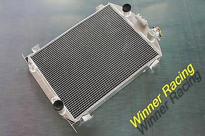 Fit Ford Car W//Chevy 350 V8 SWAP AUTO AT 1933-1934 Aluminum Alloy Radiator 56mm
