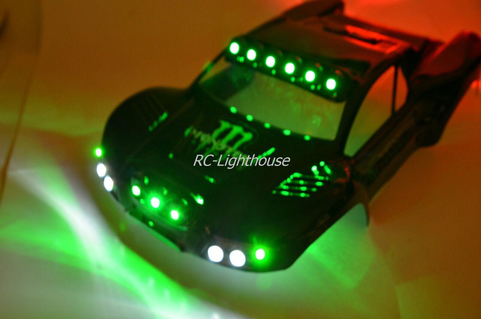 Traxxas Slash 4x4, 2WD, VXL RC10 Custom RC LED Light Set  44  Light set only