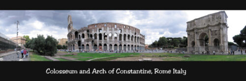 Colosseum Rome Italy 12x36 panoramic poster