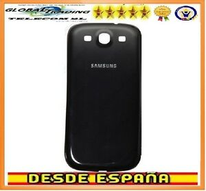 8683a4cf86a La imagen se está cargando Tapa-bateria-Negra-para-Samsung-Galaxy-S3-i9300-