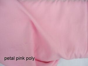 New-CLOTH-WORLD-100-polyester-blouse-dress-fabric-25-yds-x-45-034-PETAL-PINK