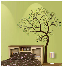 7FT LARGE TREE BROWN-GREEN WALL DECAL Art Sticker Mural  - Leaning to the Left