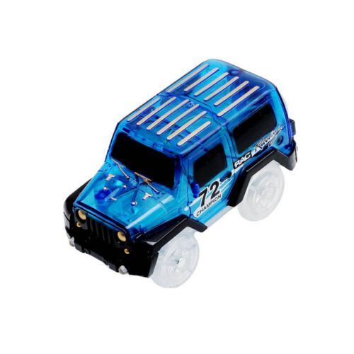 Voiture Magic pour Circuit Magique Tracks Flexible Lumineux Couleur Bleu Neuf