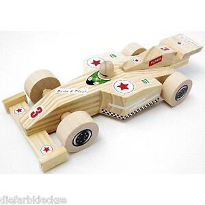 Rennauto Holzbauset Bastelset Auto Rennwagen Aus Holz Selber Bauen