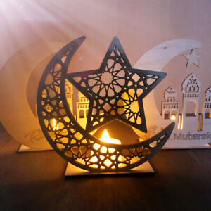 DIY-Wooden-Ornament-Eid-Mubarak-Ramadan-Muslim-Islamic-Gift-Home-Party-Decor