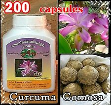 200 Capsules CURCUMA COMOSA Menstrual Relief VAGINAL Tighten Repair For Women