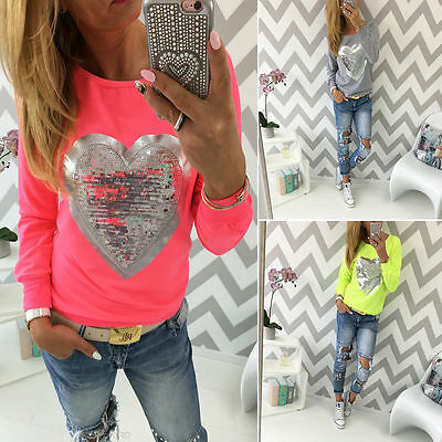 Sexy Womens Fashion Blouse Summer Casual Loose Long Sleeve Blouse Tops T-shirt