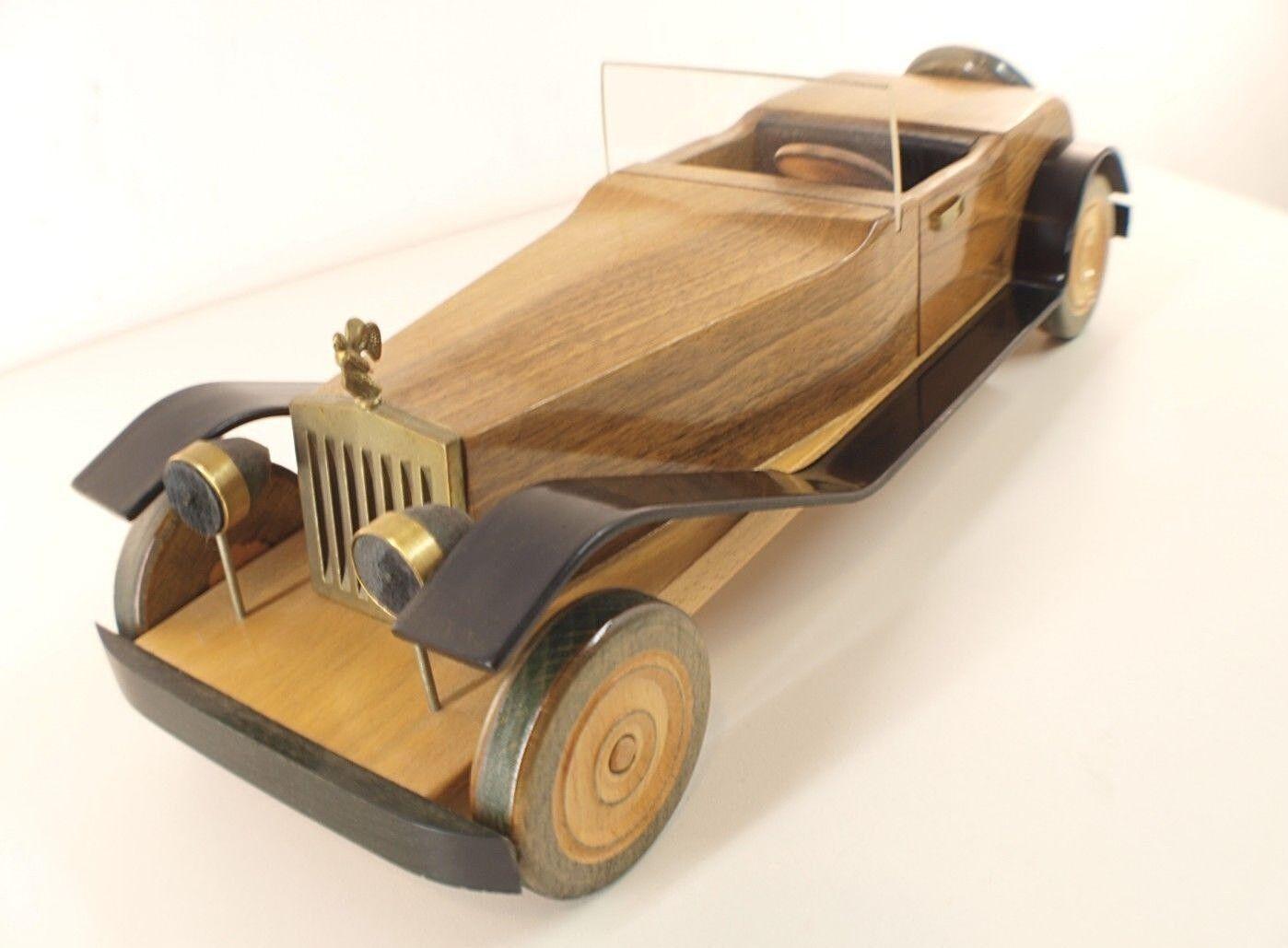 CHENAL France voiture Rolls Rolls Rolls en bois longueur 39 cm RARE Magnifique wood car e29d15