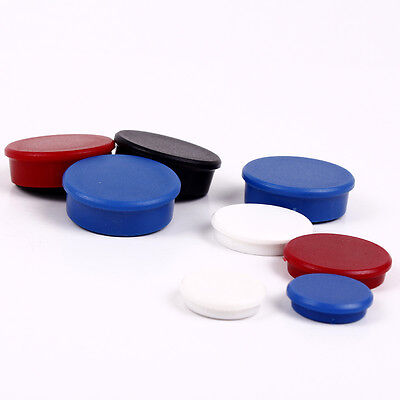 Magnet Magnete Haftmagnet 24mm 32mm 38mm rot blau schwarz 2 oder 10 Stück