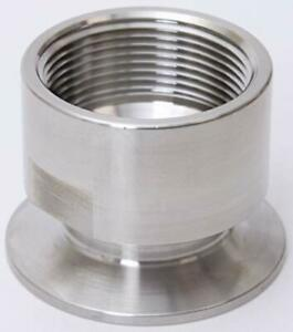 Tri Clamp 3 inch x FNPT 3 in Stainless Steel SS304 3 Pack NPT Adapter Glacier Tanks -