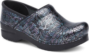 Dansko Professional Clog Henna Floral Patent Women's sizes 41 and 42 NEW!!!