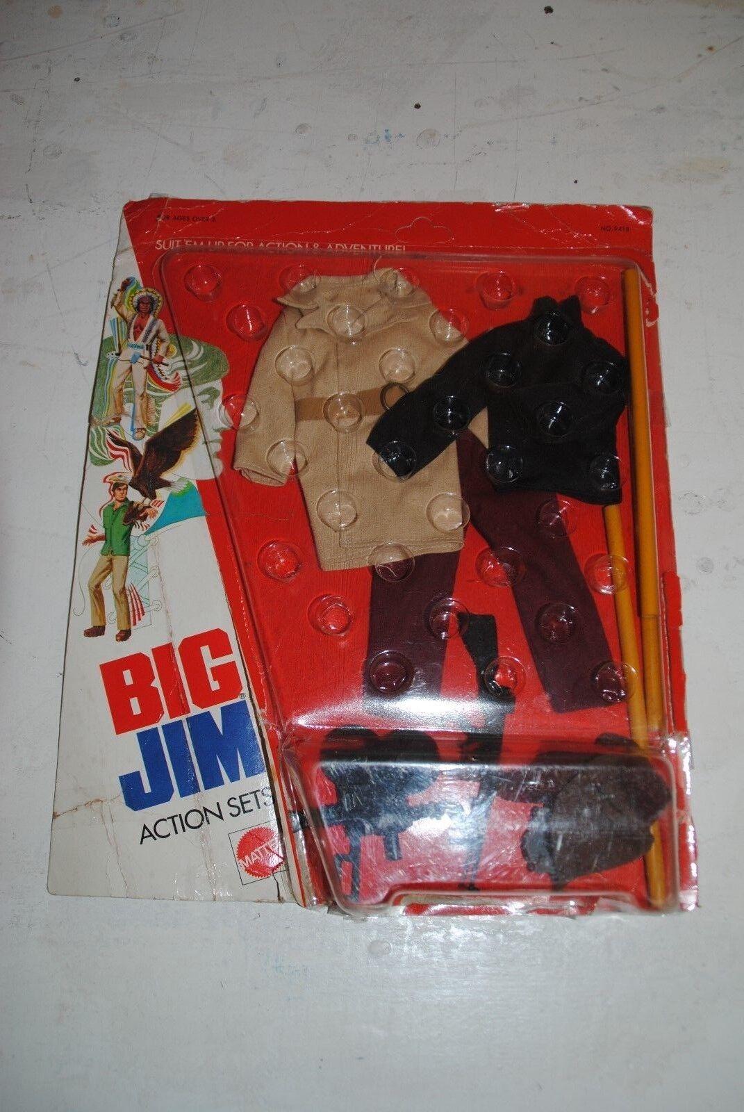 Big Jim Mattel 9418  secreto Filmer  raro conjunto Cochedada