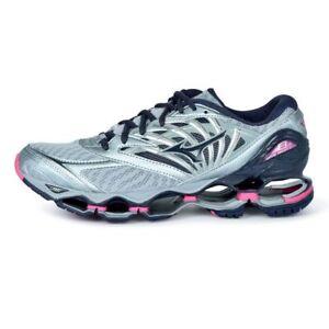 Dettagli su Mizuno Wave Prophecy 8 Women's Running Shoes Quarry Graphie Pink J1GD190053 18N