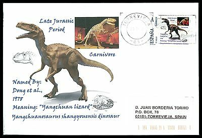 Aktiv Spain Dinosaur Dinosaure Dinosaurier - Custom Stamp - Only 5 Cover Made!! Cg54