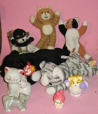 CAT & KITTEN TOYS AND FIGURES-9 PIECES