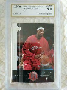 2004 LeBron James Upper Deck Rivals #2 MGS 10 Gem Mint! Cavs 2nd year card