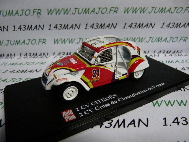 2CVAP2F voiture 1 43 ELIGOR Autoplus CITROËN 2CV  27 CROSS championnat de France