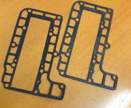 PAIR OF  Exhaust Jacket Gaskets ~ 25HP Yamaha Mariner 20C 25D 2-Stroke Outboard
