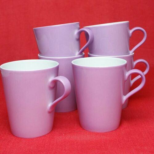 6x Arzberg Tric Violett SenCup Kaffee-Becher Tasse 180 ml Porzellan