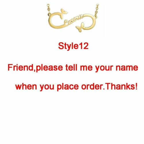 Personalized Necklace Customized Infinity Name Layer Women Custom Jewelry Gift