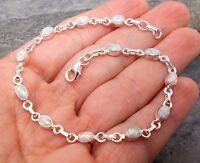 925 Silver Created Fire Opal Bracelet B575silverwaveuk Jewellery