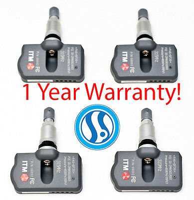 ITM Set of 4 TPMS Tire Pressure Sensors Replacement for BMW OE Part 36106874830 Aluminum Valve