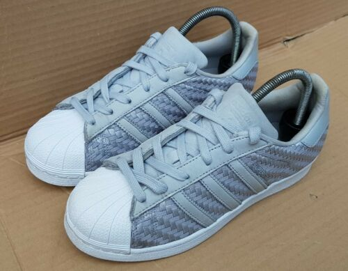 Adidas Taille Uk 5 Baskets Weave Rarex Superstar Textile Etat Grey Excellent rFnqrX0
