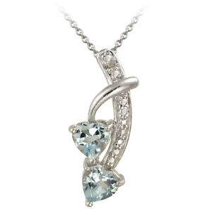 925 Silver 1//8ct Black /& White Diamond Heart Necklace