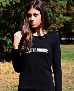 a0e559ac1 ALTER BRIDGE LOGO 2 Lady Long Sleeve Black T-shirt Rock Woman Rock ...