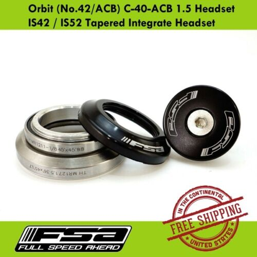 C-40-ACB 1.5 Headset IS42 IS52 Tapered Integrate Headset FSA Orbit No.42//ACB